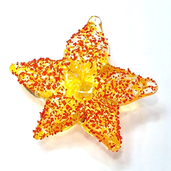 Baby Glass Starfish-Orange