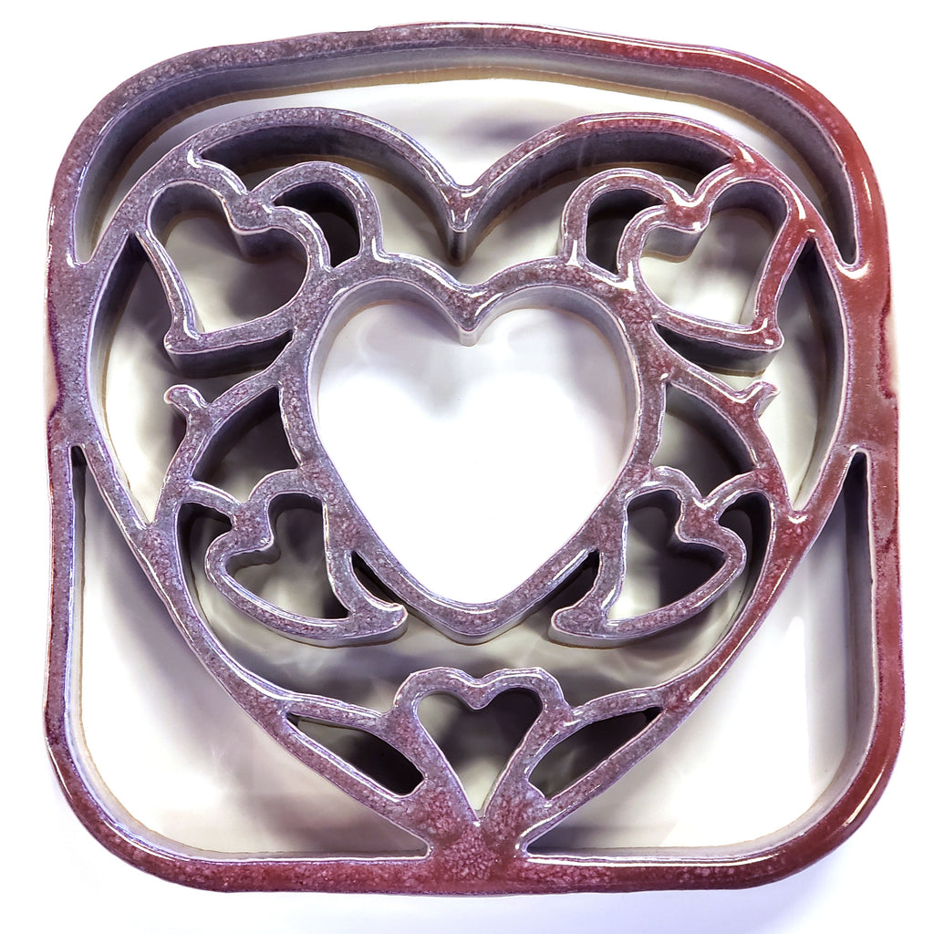 Ceramic Heart Trivet Bay Pottery