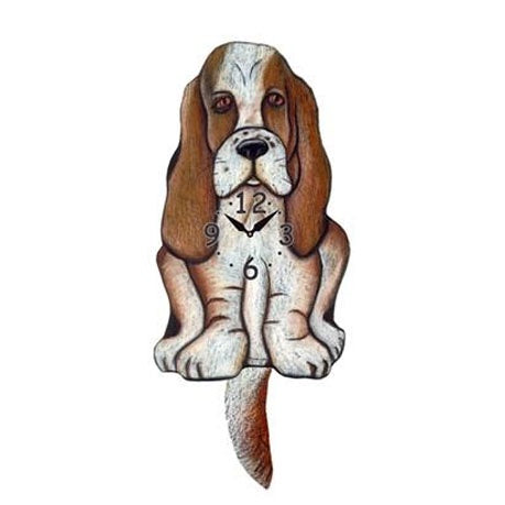 Tail Wagging Clock-Bassett