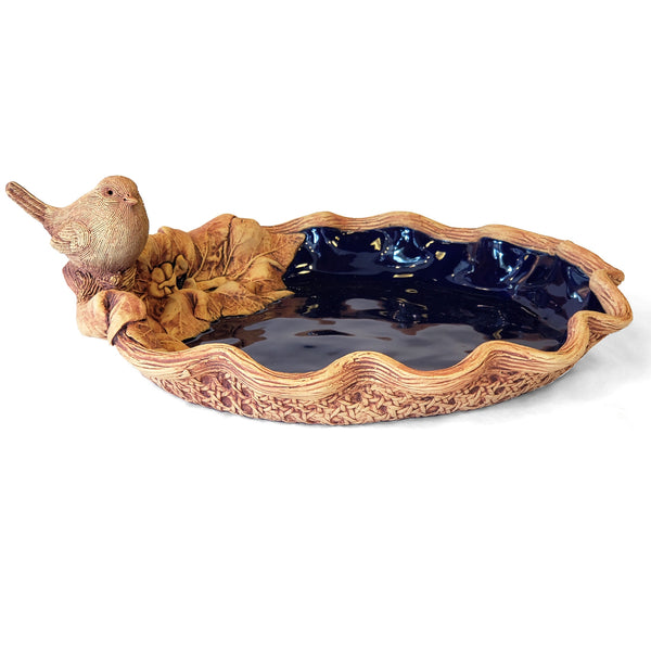 Basket Weave Bowl with Bird