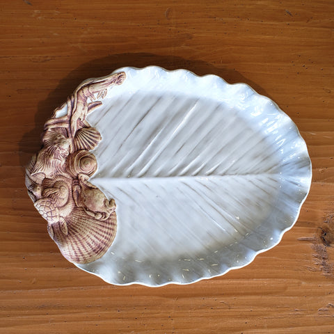 charlestowne pottery palm leaf tray