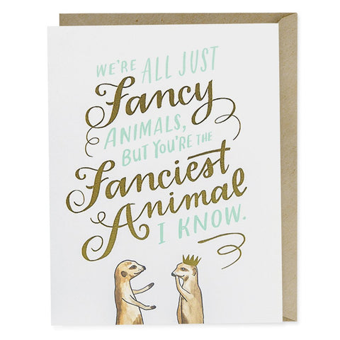 Card-Fancy Animals