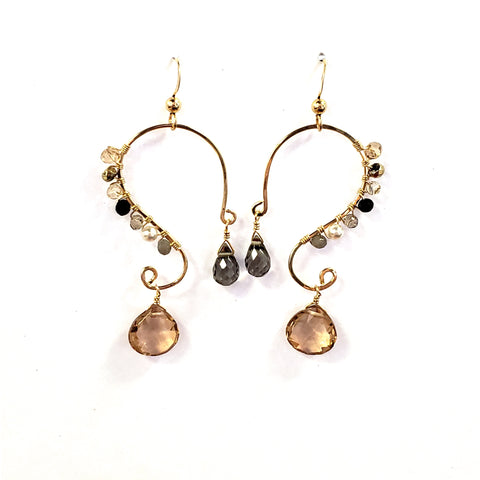 Swirl Earrings-Paris