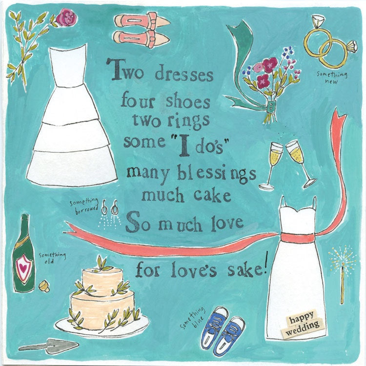 Card-Two Dresses Wedding