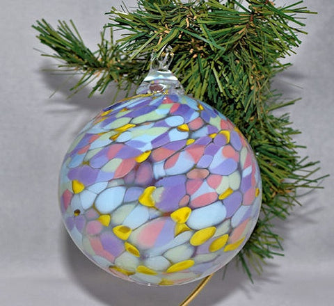 Blown Glass Ornament-Pastel Petals