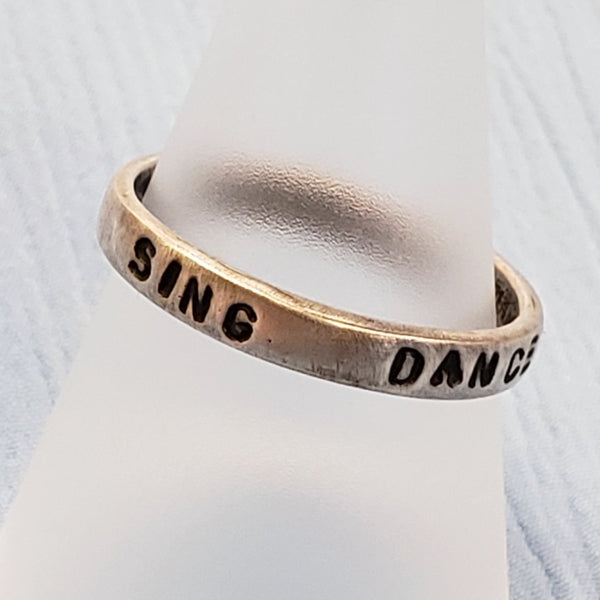 Sing Dance Dream Ring
