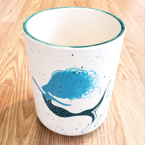 Vase/Utensil Holder-Mermaid