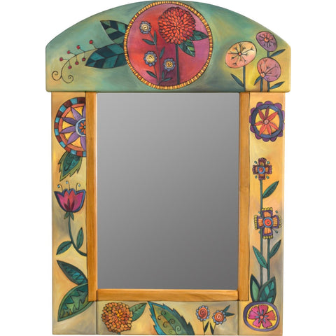 Sticks Medium Mirror-Contemporary Floral