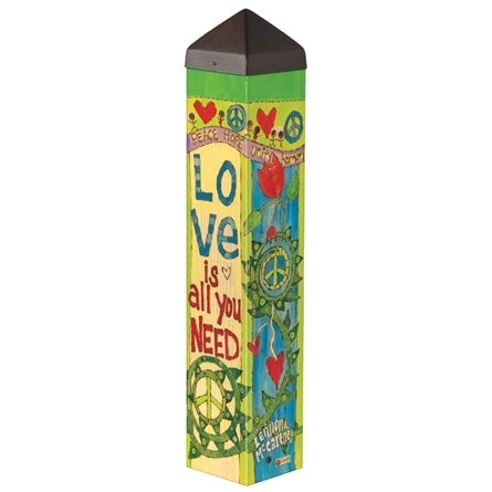 Love is All You Need Garden Art Pole