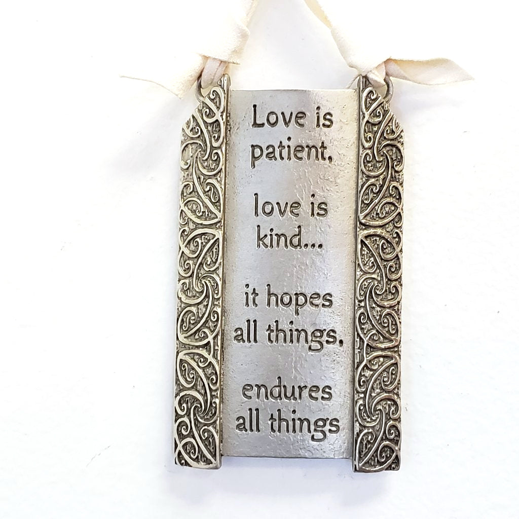 Pewter Plaque-Love is Patient