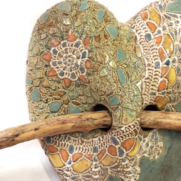 Ceramic Heart with Arrow-Lucita's Shawl