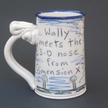 Wally 3-D Nose Dimension X Mug