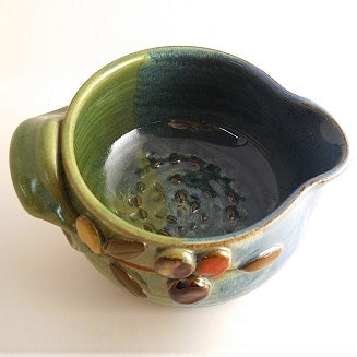 Garlic Grater Bowl-Olives | Mudworks Pottery LLC | Random Acts of Art | Naples Florida