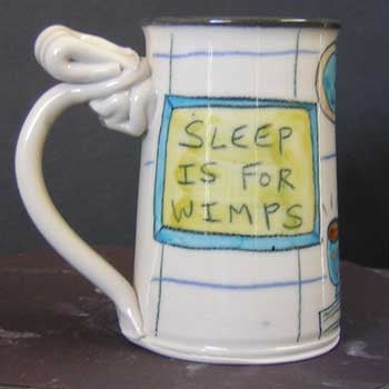 Sleep Is For Wimps Mug-Female