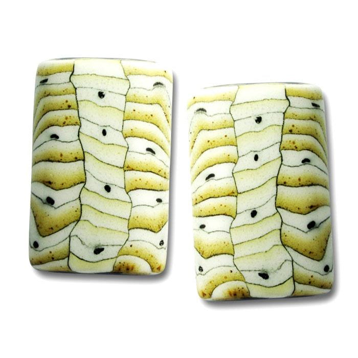 Porcelain Rectangular Earrings-Mojave