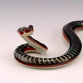 Dichroic Glass Snake-Red Diamond Back
