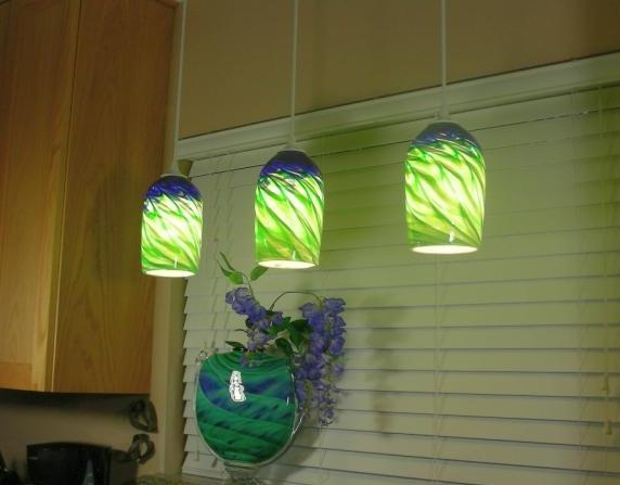 Pendant Light-Blue Green
