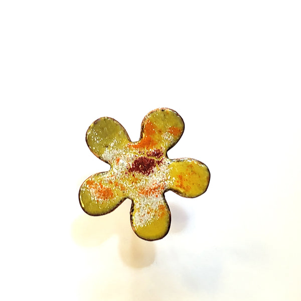 Copper Enamel Flowers - Small