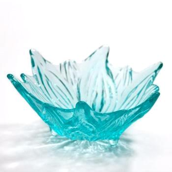 Glass Tigerlily Bowl-Ice
