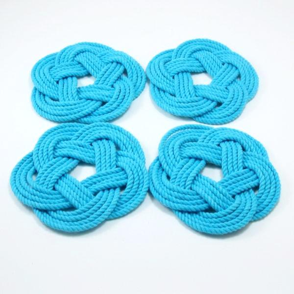 Sailors Knot Coasters-Turquoise