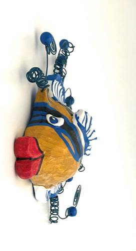 Fish Wall Sculpture-Picasso Triggerfish