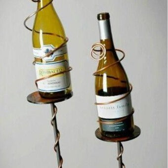 Wine Bottle Garden Stake