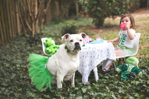 St Patrick's Day Green Pet Tutu Skirt | XS-XXXL