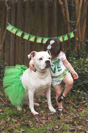 tutu joli st. patricks day dog tutu skirt, halloween dog tutu, green dog tutu xs, green dog tutu s, green dog tutu size m, green dog tutu size L, green dog tutu size xl, green dog tutu size xxl, st patty dog tutu size xxxl. large dog tutu for st patricks day holiday, dog marathon tutu, dog running outfit, green pet tutus, St. Patrick's pet costume, dog marathon accessories, pet running clothing, pet green dress, shamrock run tutu for dogs, shamrock run green tutu for pets, green party outfit for dogs