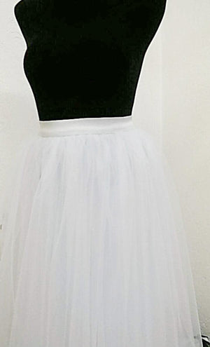 Women's White Tulle Tutu Skirt By Tutu Jólí