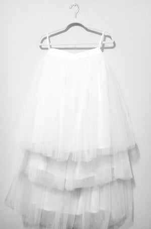 layer white tutu