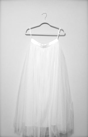 Women's White Tulle Tutu Skirt By Tutu Joli