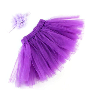 purple baby tutu prop photo