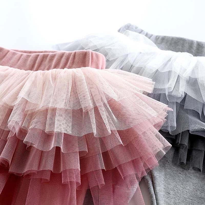tulle tutu with leggings pink and gray by tutu joli