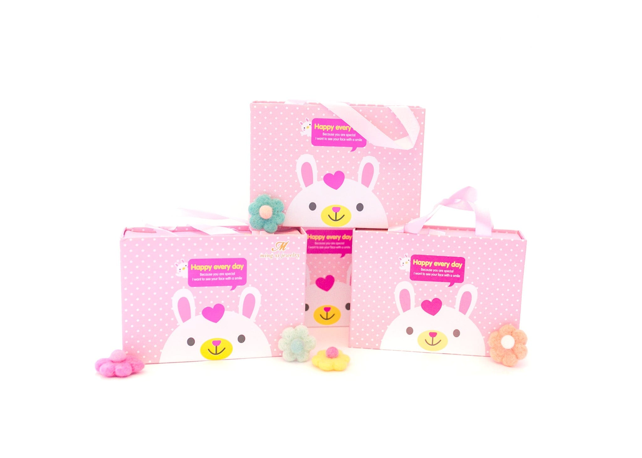 Pink Hair Accessories Gift Box - 18Pcs - Gift Set
