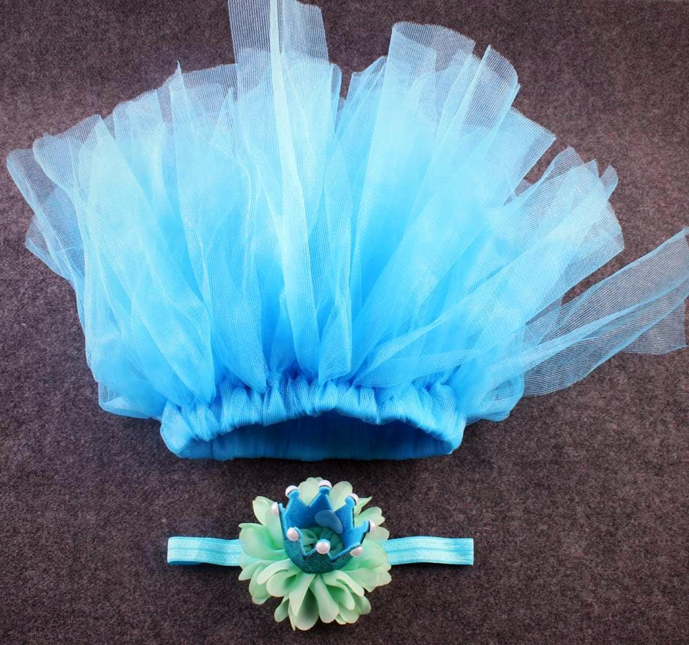 Blue tutu with crown headband joli Newborn Baby Girls Clothes Skirt Set Baby Photography Props Tutu Skirt+Headband Set Clothing, tutu joli, birthday crown newborn, baby's first birthday crown, party favors, birthday smash cake outfit, infant tutu