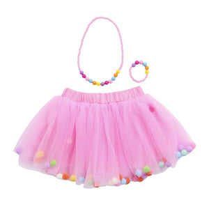 pom pom  tutu with accessory cake smash outfit