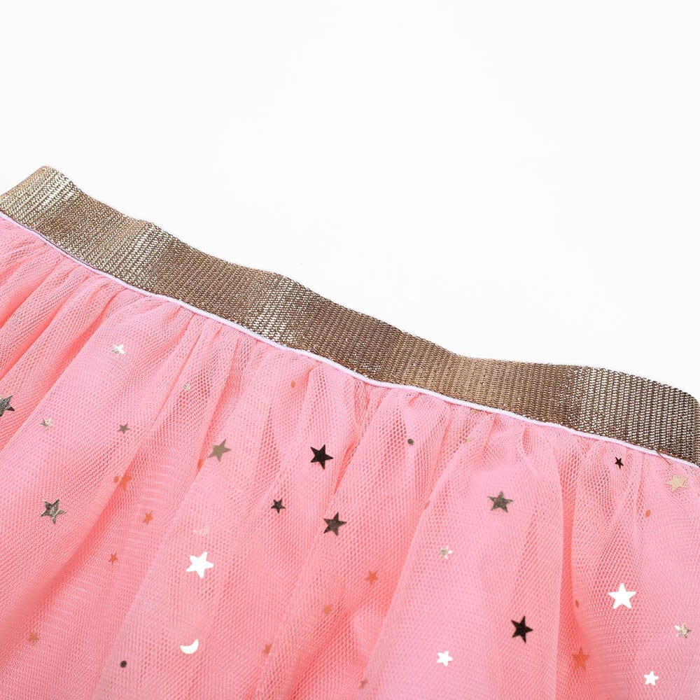 Baby and Toddler Tutu Skirts With Gold Stars Print