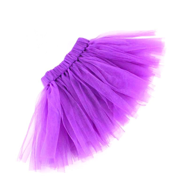 Fluffy Purple Tutu With Headband For Baby Girl | 6-12M | 2Pcs Set