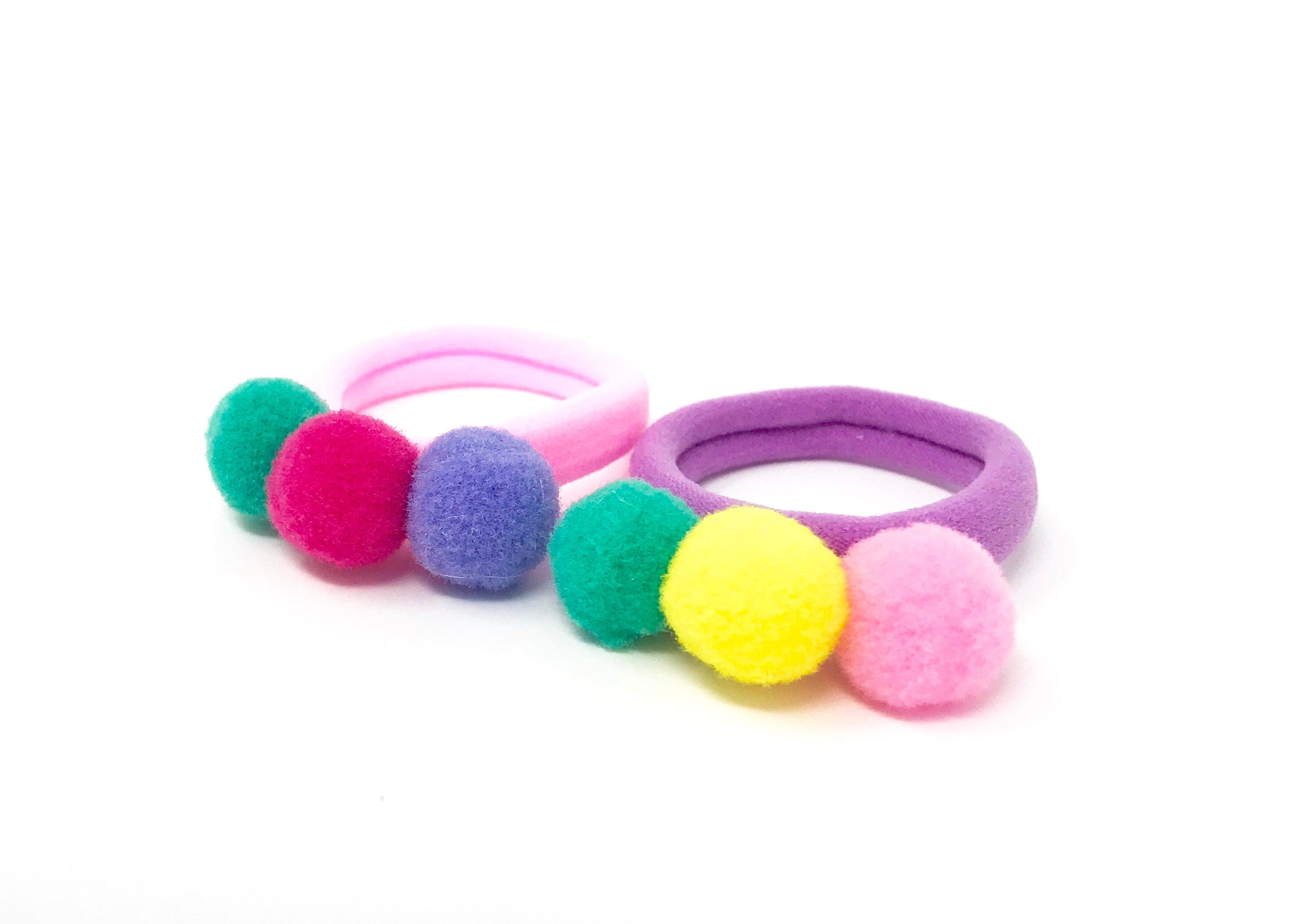 Soft Pom Pom Hair Ties By Tutu Joli