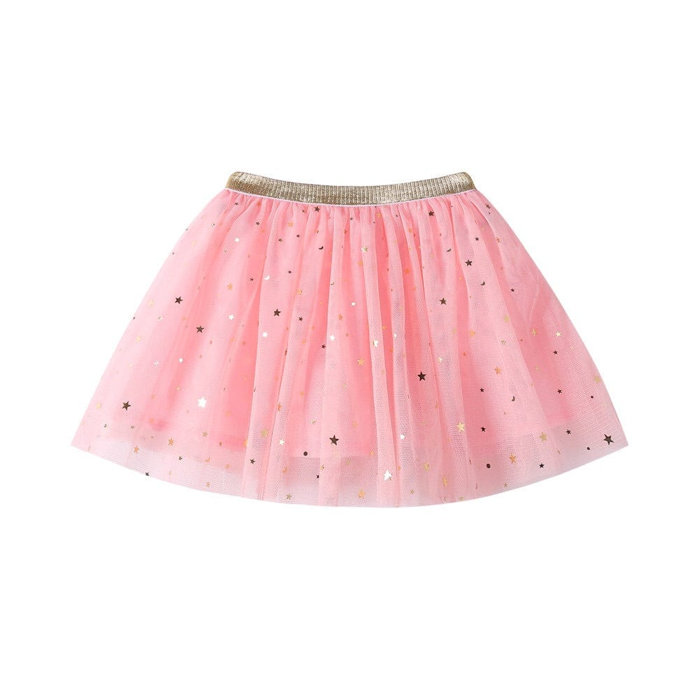 pink star tutu skirt for babies kids toddlers girls birthday gift