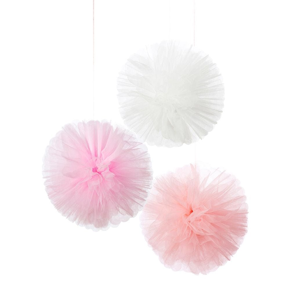 White pom pom inch, tulle pompom by tutu joli, fluffed pom pom balls, large pom pom balls, pom pom pouf, tulle pouf, pompom balls for decorations, birthday pom pom accessory, birthday party pom poms, white pom poms, pink pom poms, medium size pom poms, wedding pom poms, large fluffed poms, pompoms,
