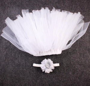 White tutu skirt with crown headband tutu joli baby props photos outfit, tutu joli, birthday crown newborn, baby's first birthday crown, party favors, birthday smash cake outfit, infant tutu