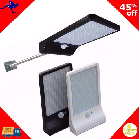 LightsCart-Solar Lamp-Bright 450LM 36 LED Solar Light-without MountingPole-White body-OzKart