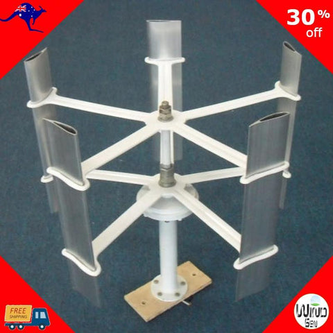 WindGen-Wind Generator-Mini Vertical Wind Turbine 10W 12V 5 blades-OzKart