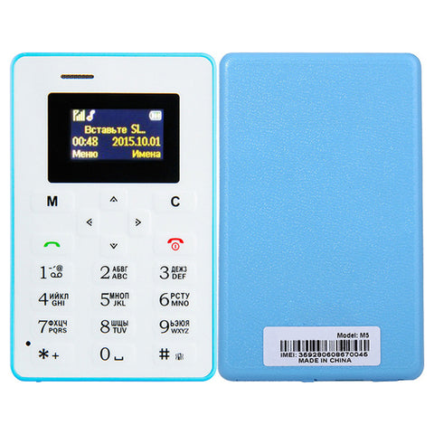 4.5mm Ultra Thin Card  Pocket Mini Phone Dual Band