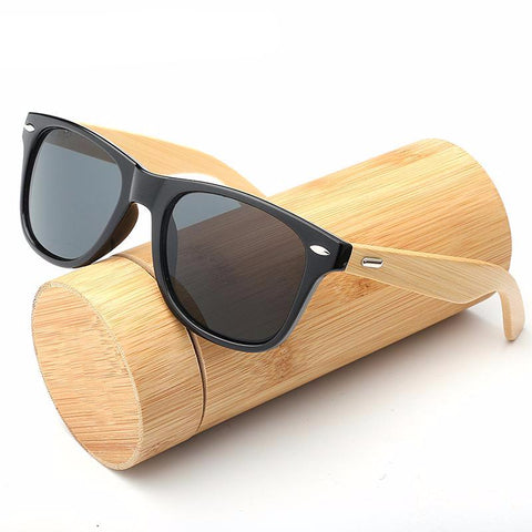 Retro Wood Men Bamboo Sunglasses
