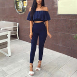 Two-pieces Set Off Shoulder S-XL