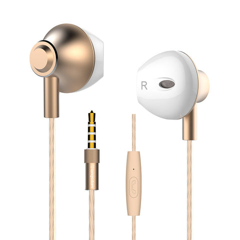 Metal Bass Earphones with Microphone