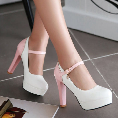 2 Colors high heels Women's shoes