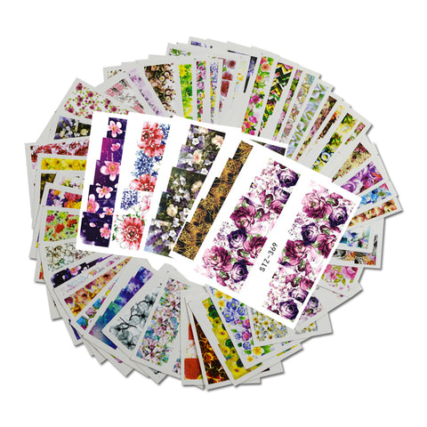 48pcs Mixed 48 Designs Flower Nail